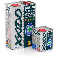 Моторное масло XADO 10W40 4L Atomic Diesel полусинтетика CI-4 Plus B4/E7