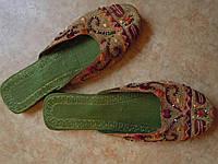 Тапочки shalimar shoes зелёные с оранжевым