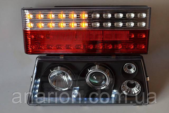 Задние фонари черного цвета с диодным повторителем поворота