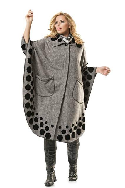 Пальто зимнее больших размеров 48+
