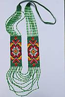 Жіночий гердан-силянка з червоними квітами (Женский гердан-силянки с красными цветами) ZS-0014