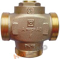 """Клапан Herz Teplomix DN25, 1""""1/4, 55°С термосмесительный 1776613 с отключаемым байпасом"""