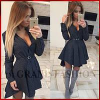 Платье Туника Рубашка ~Каприз~ цвет чёрный