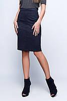Женская стильная юбка-карандаш из замши с высокой посадкой на молнии (2 цвета)