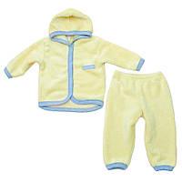 Теплый детский комплект для девочки Minikin 15288 желтый