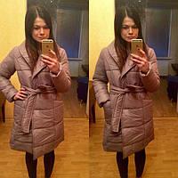 Стильная женская куртка-плащ с поясом