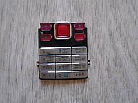 Клавиатура Nokia 6300 Silver/Red high copy