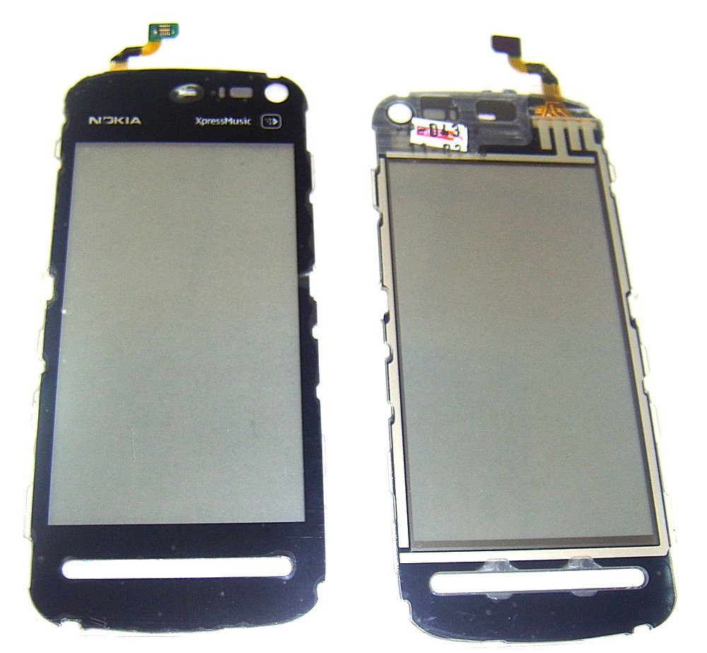Сенсорное стекло Nokia 5800 Black high copy