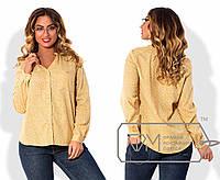 Женская принтованная рубашка в больших размерах o-1515832