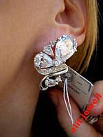 Крупные серебряные серьги Мирабелла