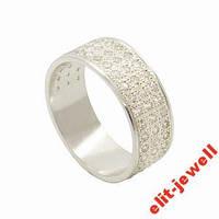 Женское серебряное кольцо Злата - 19,5 размер