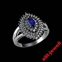 Серебряное родированное кольцо Агра 16,5 р