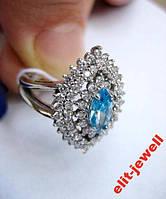 Серебряное родированное кольцо Агра 17,5 р