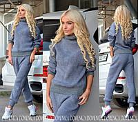 Женский стильный осенний костюм: свитер и брюки (4 цвета) + большие размеры