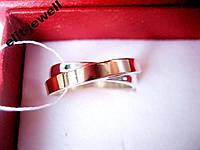 Обручальное кольцо Лиана - серебро и золото