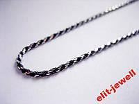 Серебряная цепь 45 см с чернением