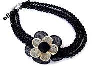 Колье (ожерелье) с цветком + браслет
