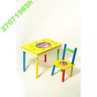 Стол + стул  Мишка с ящиком