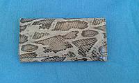 Кошелек женский под рептилию,замша с лазерной обработкой (Турция)