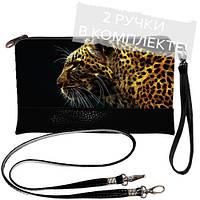 Женская сумка клатч с леопардом