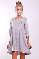 Платье CIL Clarin; цвета: светлосерый | серый,  состав:55% - хлопок, 35% - полиэстер, 10% шерсть (светло-серая ткань менее плотная)