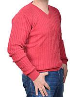 Вязаный мужской свитер Fabiani-4411 бордовый