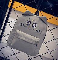 Милый аниме рюкзак с мордочкой и ушками котика. Отличное качество. Стильный дизайн. Купить онлайн. Код: КДН725