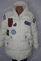 Модная   зимняя женская куртка на замке с капюшоном принт