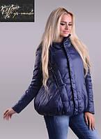 Короткая женская куртка дутая с воротником