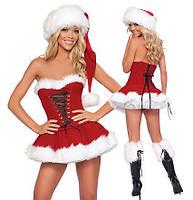 Новогодний костюм Снегурочки Santa's girlfriend Оks 708 /033 N