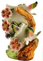 Ваза фарфор птица 4384