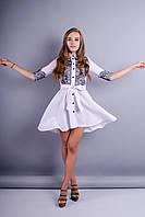 Эра. Нарядное платье. Белый.