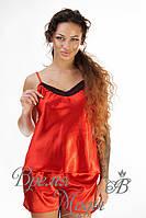 Комплект двойка красный (майка + шорты).