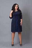 Женское осеннее платье большие размеры 48,50, 52,54,56