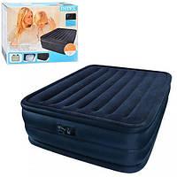 Двуспальная надувная кровать Intex 66718 со встроенным электрическим насосом