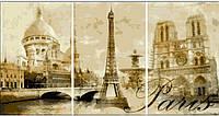 Раскраска по номерам BABYLON Триптих.Париж (50x90 см)  (DZ002)