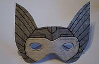 Карнавальная маска из фетра Тор