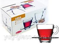"""Набор чашек для чая 225 мл стеклянный """"Aqua 95040"""" 12 предметный."""
