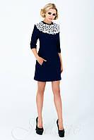 Женское классическое платье Парма темно-синее  42-48 размеры Jadone