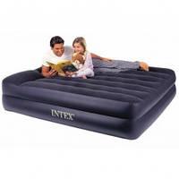 Велюровая надувная кровать 66720 INTEX