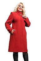 Женское кашемировое демисезонное пальто больших размеров (рр 50-58)
