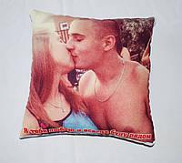 Подушка с фото печать с двух сторон 32см*32см
