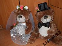 Мишки свадебные большие + голуби в подарок