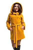 Молодежное короткое демисезонное пальто с капюшоном (рр 44-52), разные цвета
