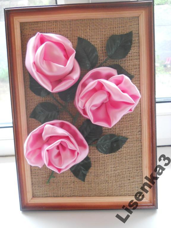 Картина - атласные розы
