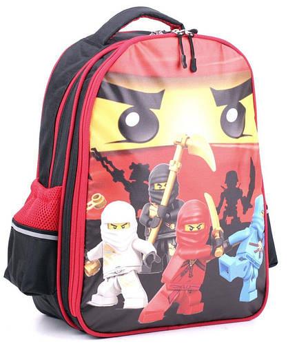 Рюкзак школьный, практичный  13 л. Wallaby, 114 черный/красный
