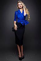 Женское офисное платье Дора электрик 42-46 размеры Jadone
