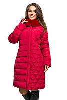 Модная женская куртка с мехом (рр 46-56), разные цвета