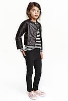 Штаны-треггинсы черные на девочку 6-7, 7-8, 8-9, 9-10 лет H&M (Англия)