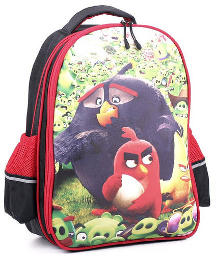 Яркий школьный рюкзак 13 л. Wallaby, 114-1 черный/красный